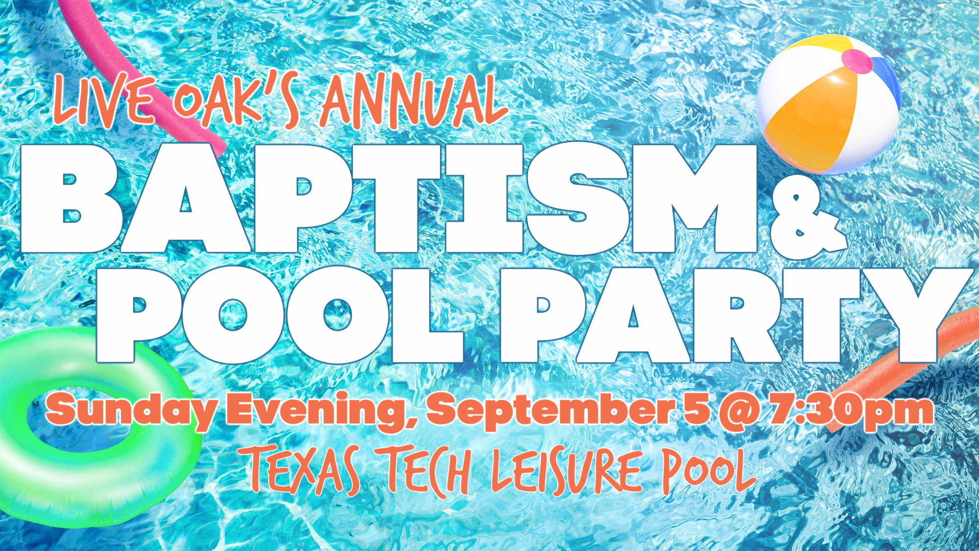 Baptism and Pool Party