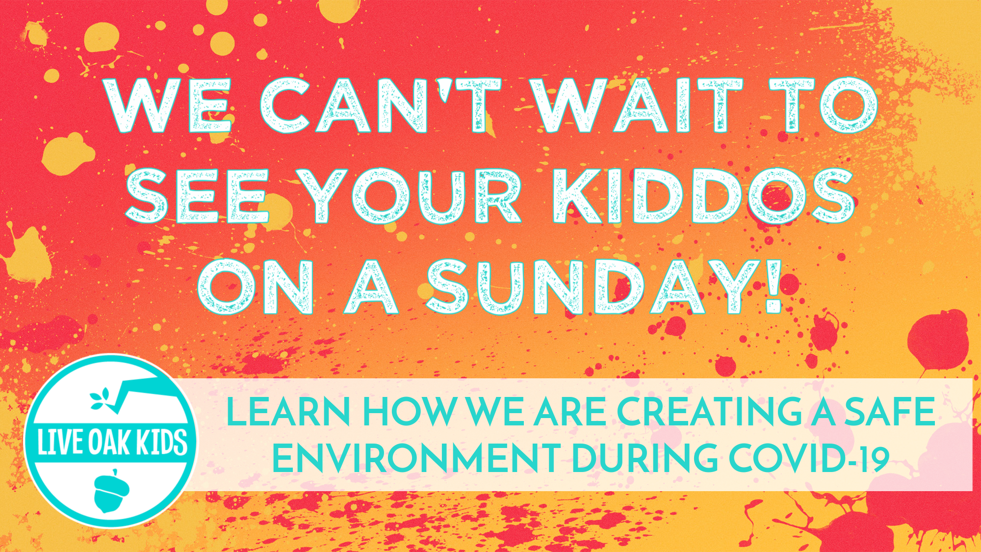 KIDS MINISTRY IN-PERSON ON SUNDAYS!